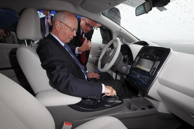 Тест-драйв Nissan Leaf в Давосе