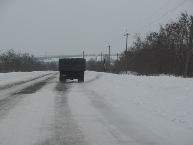 Наледь на дороге