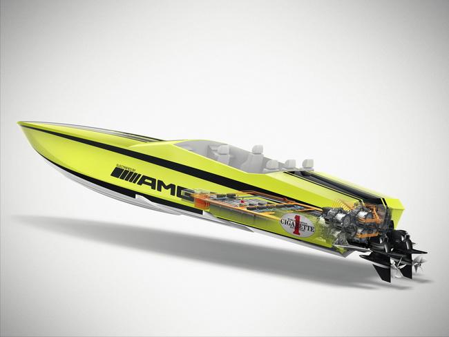 Cigarette AMG Electric Drive Concept: Самая быстрая в мире гоночная яхта с электродвигателем