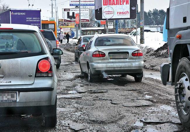 на выходных в Киеве отремонтируют дороги