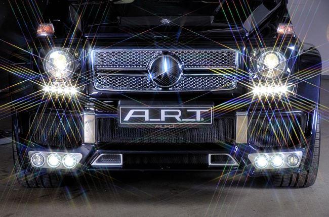 Новые фары кубика Mercedes-Benz G65 AMG