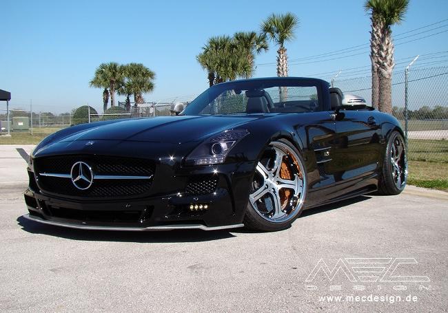 Новые колесные диски Mercedes-Benz SLS AMG от MEC Design