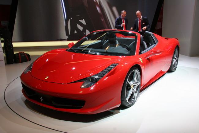 Франкфуртский автосалон 2011: презентация Ferrari 458 Spider