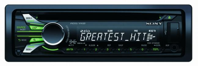 Недорогой СD-ресивер Sony CDX GT560UE