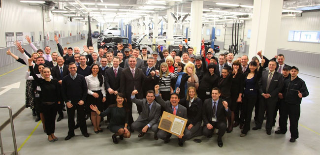 Toyota награждает дилера «Сити Плаза» за образцовый сервис