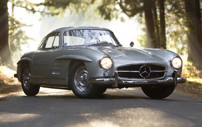 Самые дорогие автомобили в мире 2012: 1955 Mercedes-Benz 300 SL Alloy Gullwing