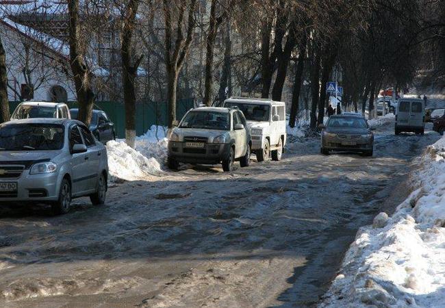 Обледенение дорог