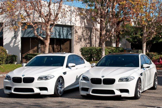 Белый BMW F10M M5