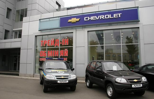 Экспорт Chevrolet Niva в Украину