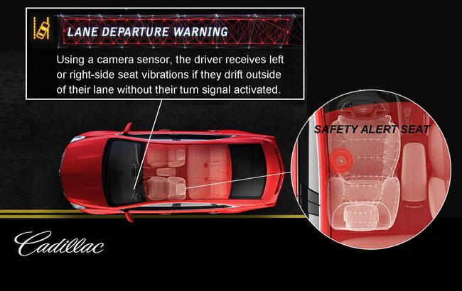 Cadillac XTC получит вибрирующие сиденья