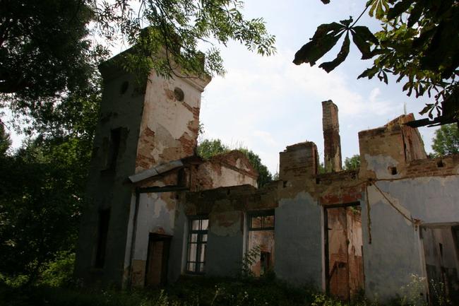 Чуть в стороне от дворца - черноминского Белого дома сохранились руины хозяйственного блока: отопление, кухня, водопровод.