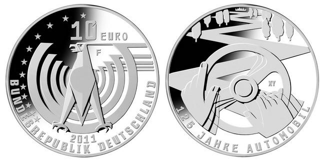 Юбилейная монета к 125-летию автомобиля