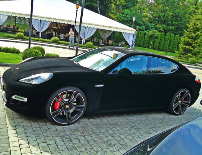 уникальный Porsche с вельветовым  кузовом