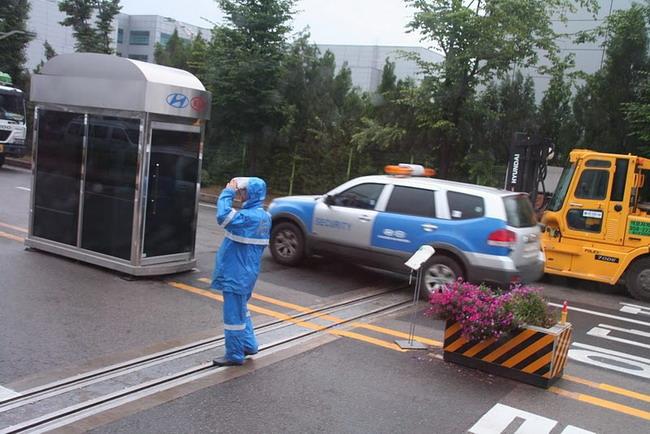 Даже фото контрольно-пропускного пункта в исследовательском центре Hyundai считается секретным.