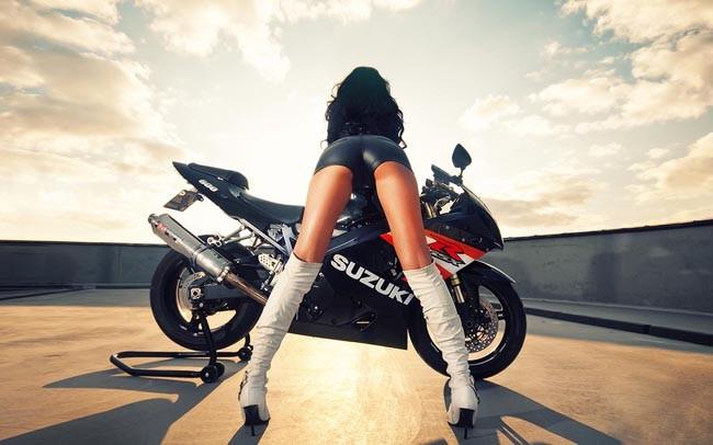 Езда на мотоцикле полезна для женского здоровья