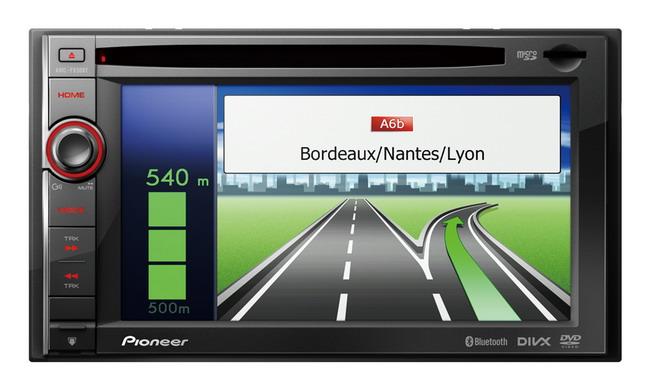 Возможность работы с навигацией - одна из функций мультимедийного центра AVIC-F930BT.