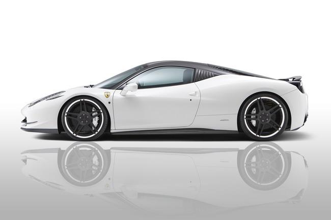 Как и у части других моделей NOVITEC ROSSO, клиренс передней части ее 458 Italia увеличивается для лучшей проходимости.