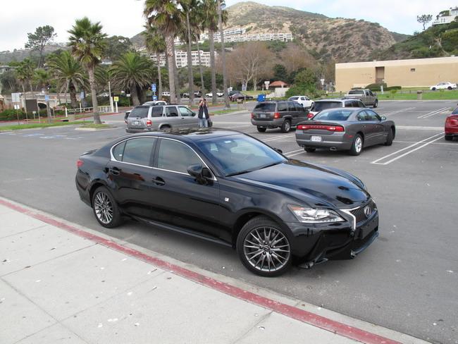 Новый Lexus GS во время тест-драйва в Калифорнии.