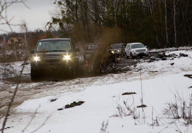 Тест-драйв на внедорожниках Land Rover