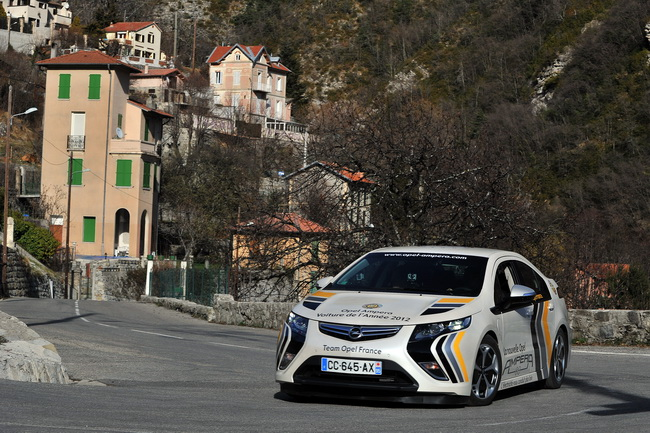 Opel Ampera победила в ралли Монте Карло
