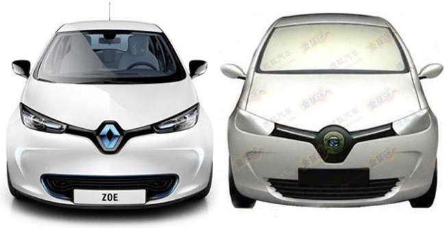 электрокар Renault Zoe и Shenzhen J0