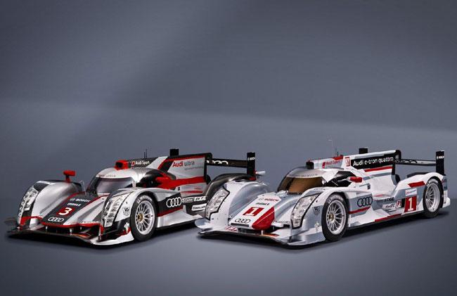 тавлен гоночный гибрид Audi R18 e-tron quattro