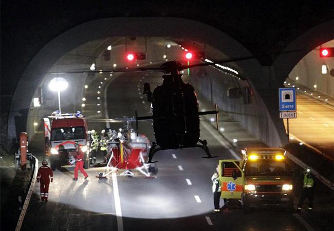 авария в Швейцарии