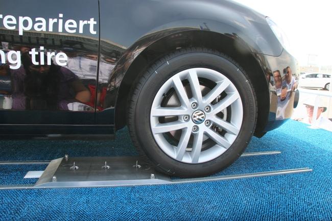 Водитель автомобиля даже не будет знать, что его шина проколота.