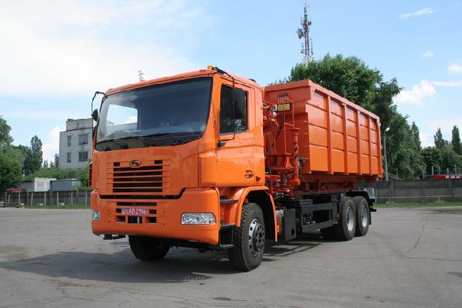 новый тип контейнерного автомобиля-мусоровоза КрАЗ Н23.2 (МПР-2)