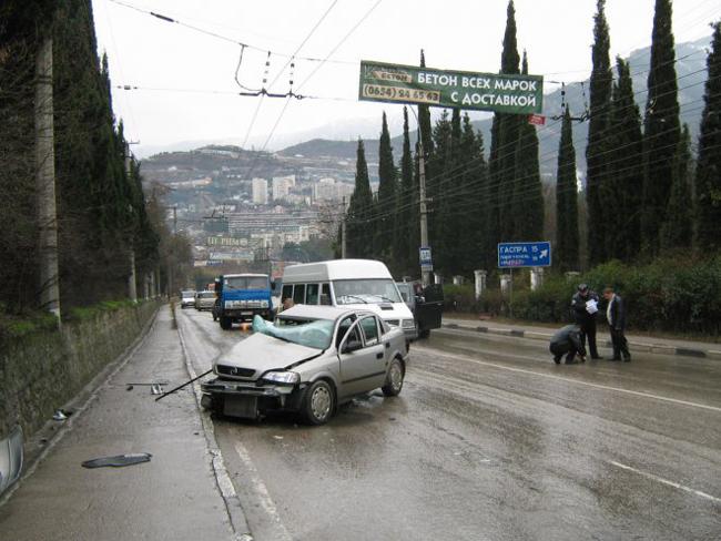 Опасности на автодорогах Крыма