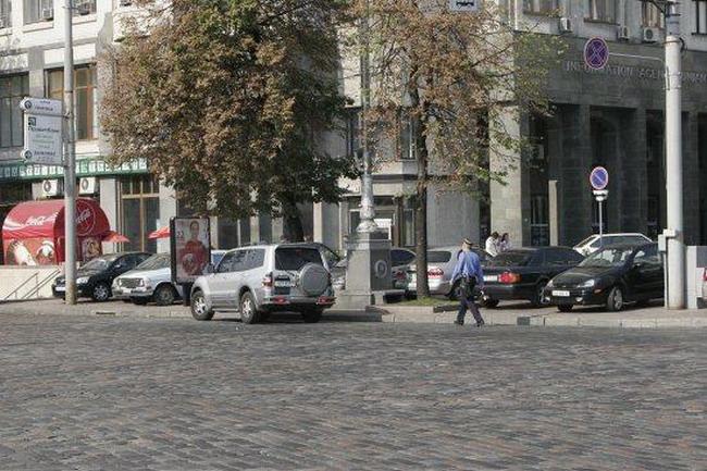 парковка в центре Киева на День Победы
