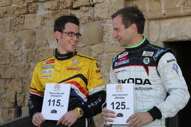 Именно Ханнинен с двумя победами и тремя призовыми местами был реальным лидером зачета перед заключительным этапом IRC - Ралли Кипра-2011