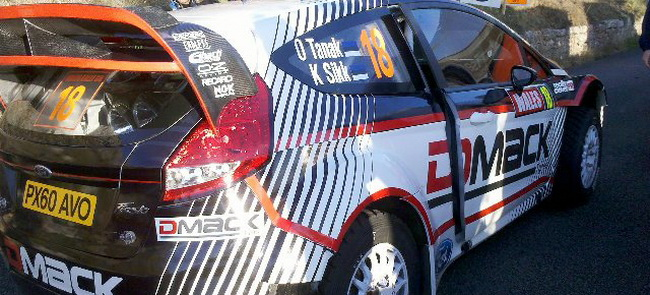 Отт Танак не только впервые выехал на новом автомобиле категории WRC, но и едет на одновленной китйской гравийной резине DMACK