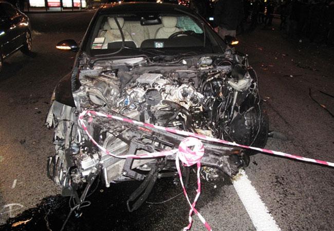 На Крещатике столкнулись 9 автомобилей