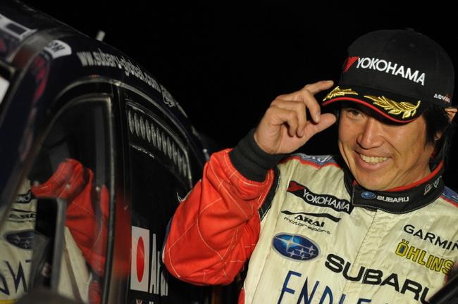 """""""Тоши"""" Араи на своей заряженной Subaru Impreza R4 опередил всех участников на N4, завоевал титул в """"продакшене"""" и как и Миккельсен не погнался за """"золотом"""""""