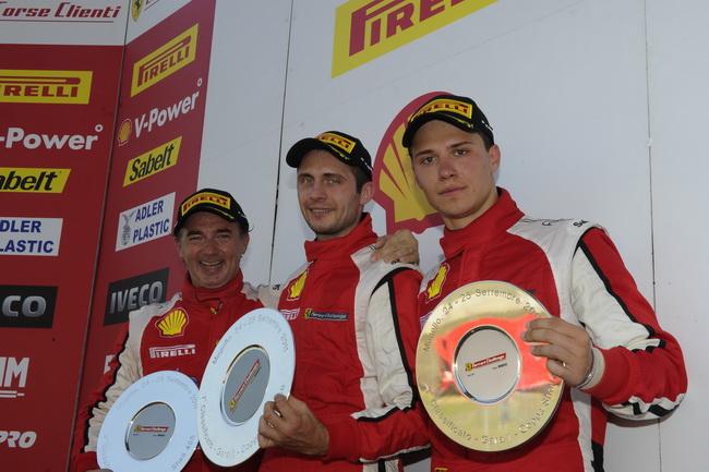 Андрей Круглик уже во второй своей гонке в рамках Ferrari Challenge Trofeo Pirelli  дважды возглавил подиум зачета новичков