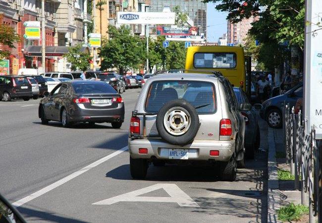 Штраф за полосу общественного транспорта