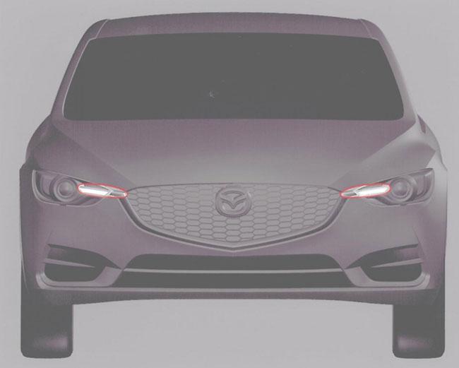 Новая Mazda3 скетчи