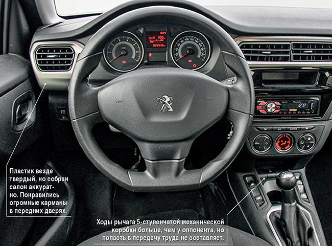 Сравнительный тест Peugeot 301 - Skoda Rapid
