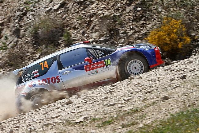 Роберт Кубица стартует за рулем автомобиля WRC