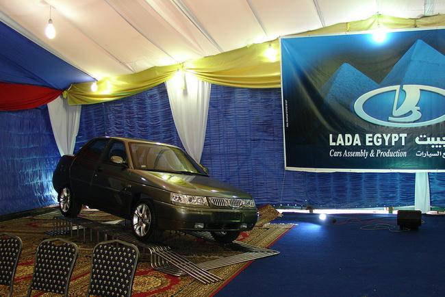 Сборка седана Lada Granta в Египте
