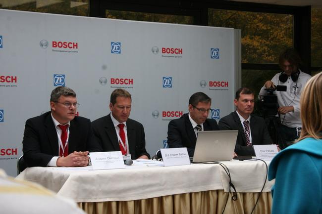 На пресс-конференции руководителей Bosch и ZF в Украине.