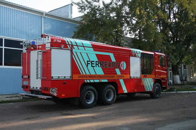 Новая пожарная автоцистерна КрАЗ Н23.2 (АЦ-13-70)