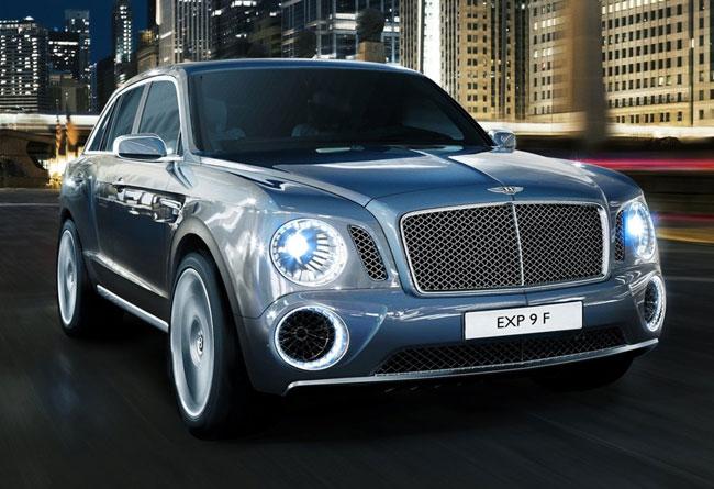 концепт внедорожника Bentley EXP 9 F