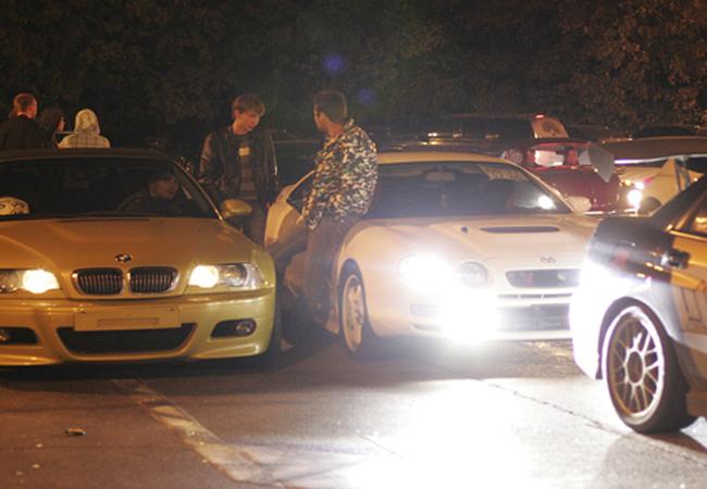 ГАИ пресекла проведение нелегальных автогонкок в Черкассах