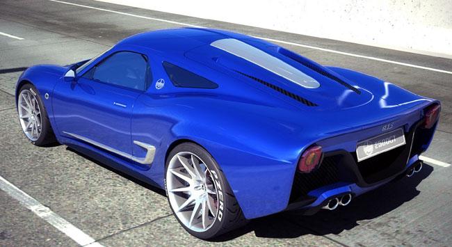 Итальянский суперкар ATS 2500 GT (скетч)
