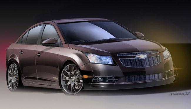 Выставка тюнинга SEMA 2012: концепт Chevrolet Cruze Upscale