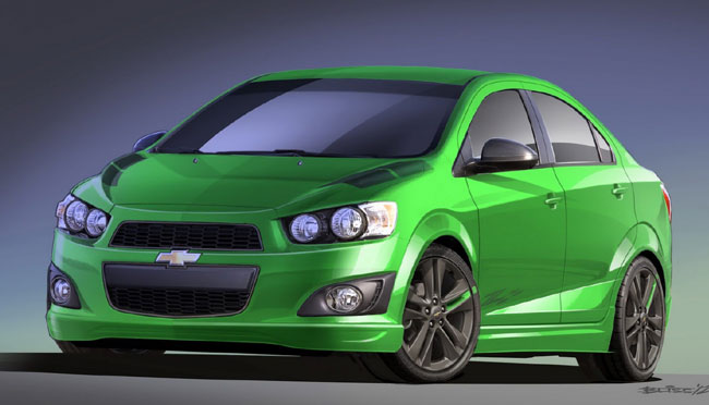 Выставка тюнинга SEMA 2012: концепт Chevrolet Sonic Z-Spec 1