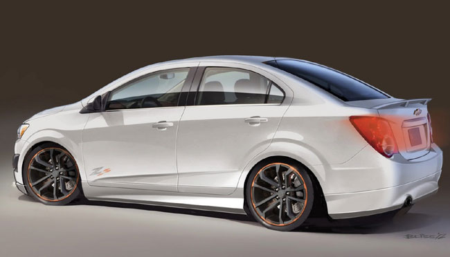 Выставка тюнинга SEMA 2012: концепт Chevrolet Sonic Z-Spec 2,5