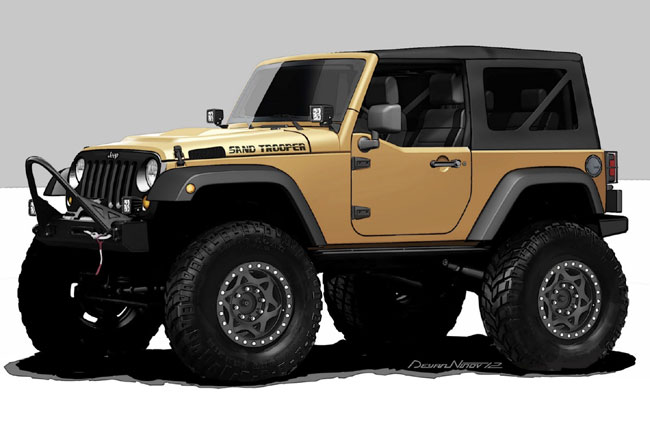 Выставка тюнинга SEMA 2012: Jeep Wrangler Sand Trooper